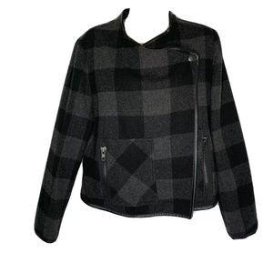DEX Outerwear Plaid Blazer Coat M Cross Front